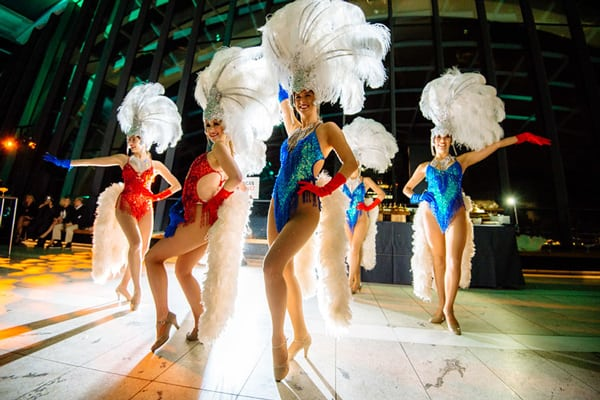 American showgirls cabaret act for hire