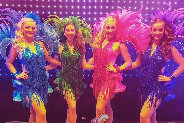 Showgirl dancers